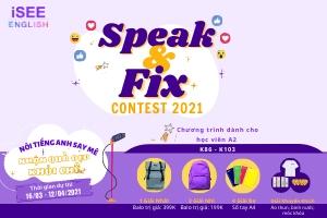 SPEAK&FIX CONTEST 2021